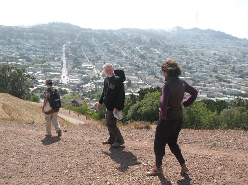 Da direita para a esquerda, minha mulher Joana, Chris e a mulher dele, a mexicana Adriana